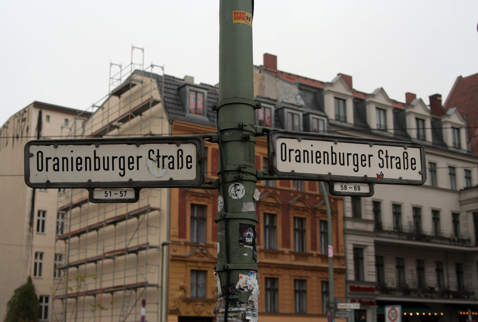 Street sign in Berlin