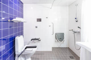 Accessibility standard twin bathroom