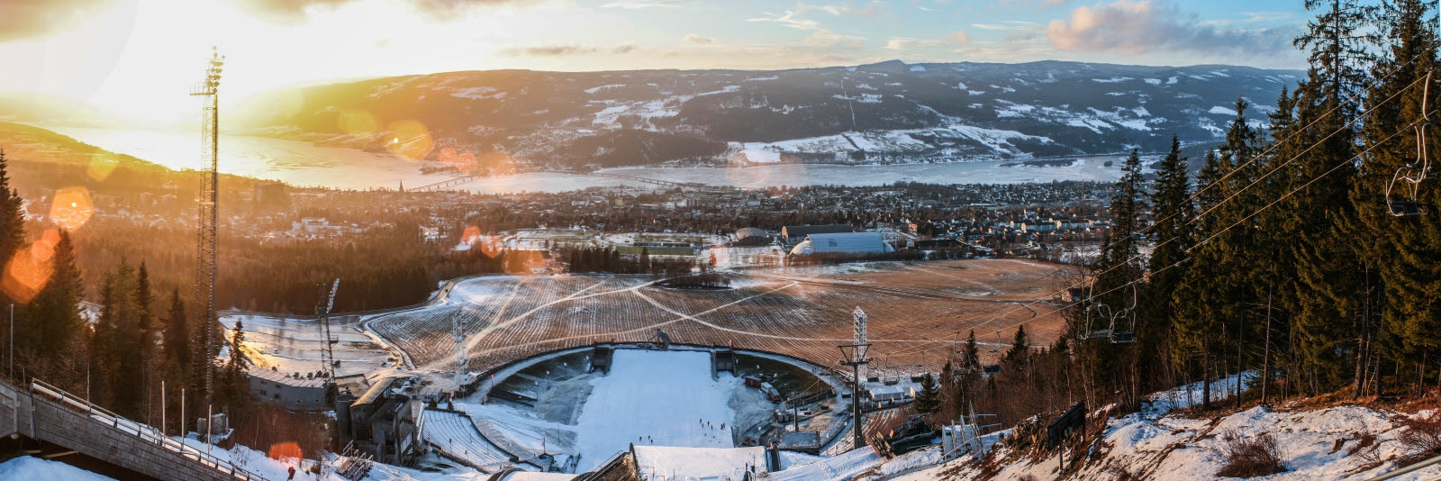 View over Lillehammer, Norway