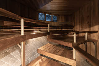 relax area with sauna at scandic rosendahl in tampere finland