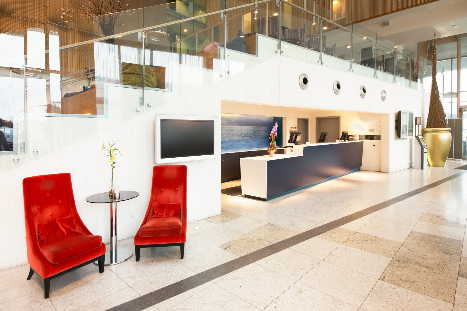 Scandic Stavanger Airport, reception, front desk