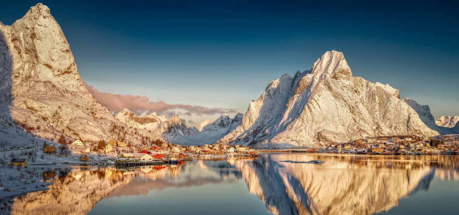 Reine in Lofoten a winterday