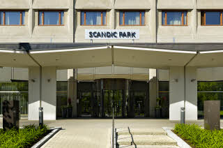 facade and entrance scandic park helsinki hotel finland