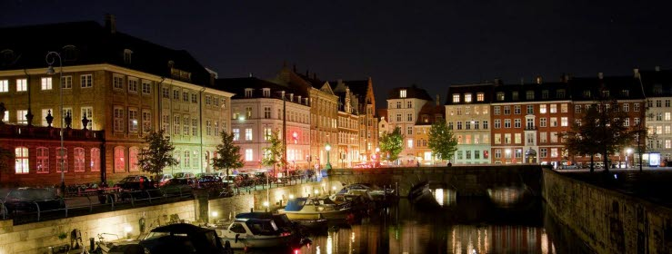 Copenhagen's night-time channel | Photo: Wonderful Copenhagen