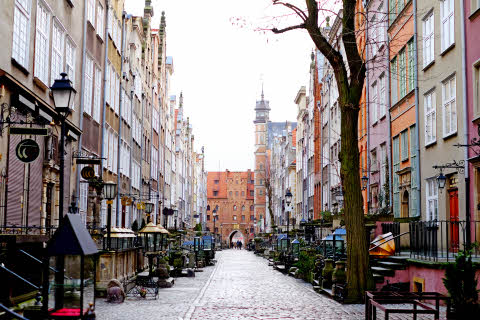 Street mariacka gdansk, street poland architecture old, city europe, urban