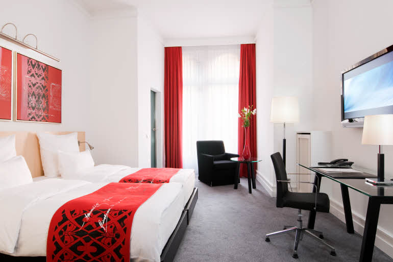 Room of Scandic Palace Hotel in Copenhagen