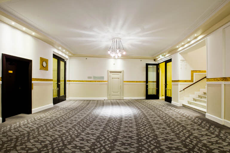 Corridor of Scandic Palace Hotel in Copenhagen