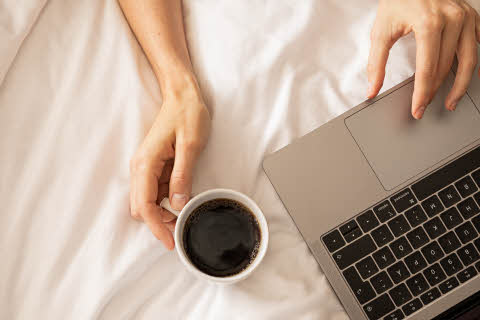 work in bed at scandic hotels