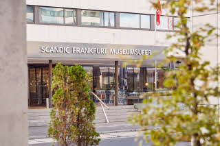 entrance of scandic frankfurt museumsufer in germany