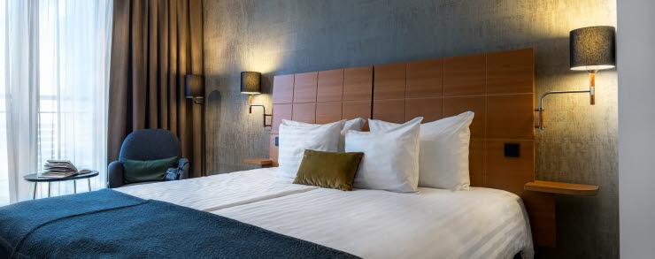 Hotellihuone Scandic Simonkenttä -hotellissa Helsingissä