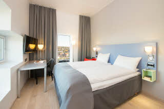 Scandic Lerkendal, room, double bed