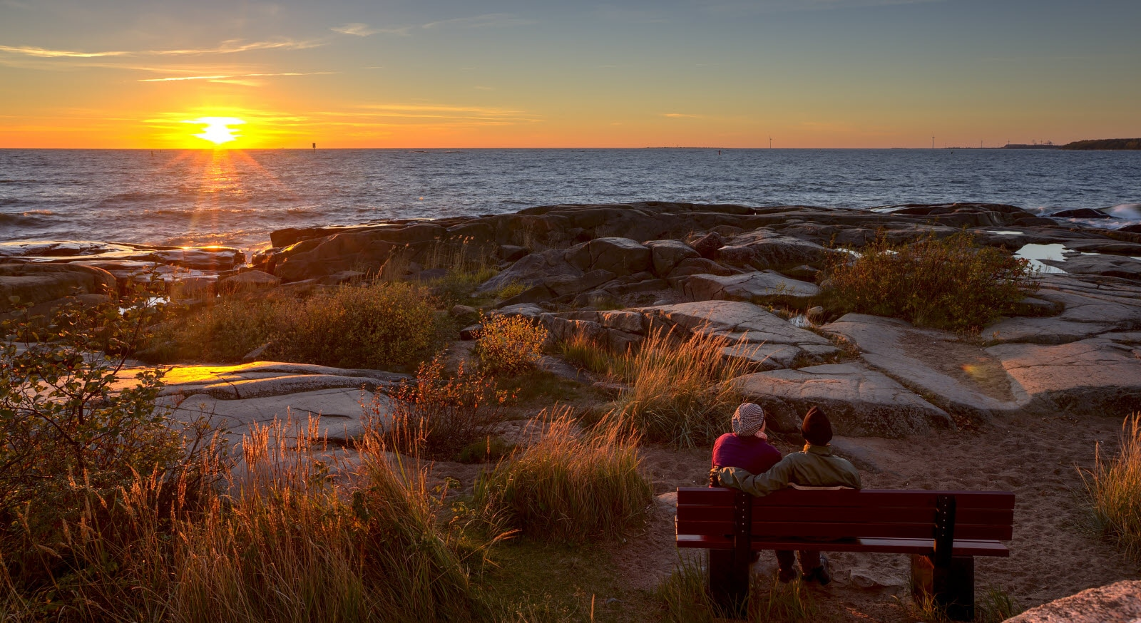 Pori, sunset by the sea. Copyright Visit Finland
