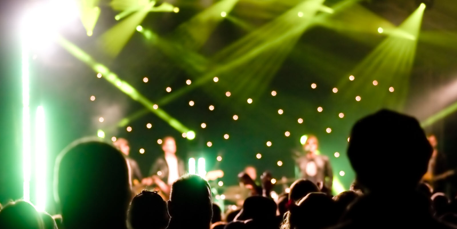 Mostphotos.com. Audience at a live music concert,