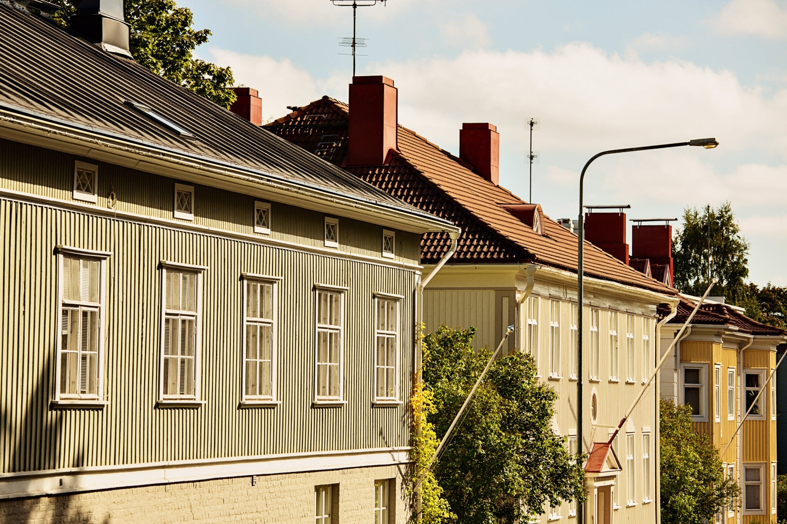 Tampere, wooden houses. Copyright Visit Finland