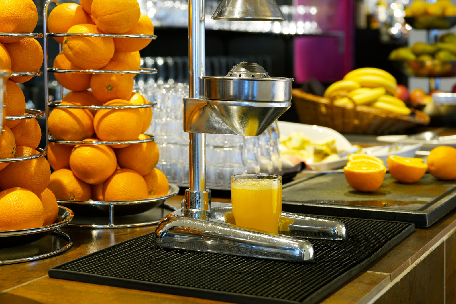 Juicer at breakfast