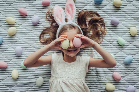Cute little girl celebrating Easter