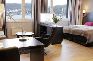 Scandic Hammerfest, Hammerfest, North Norway, deluxe room, lounge