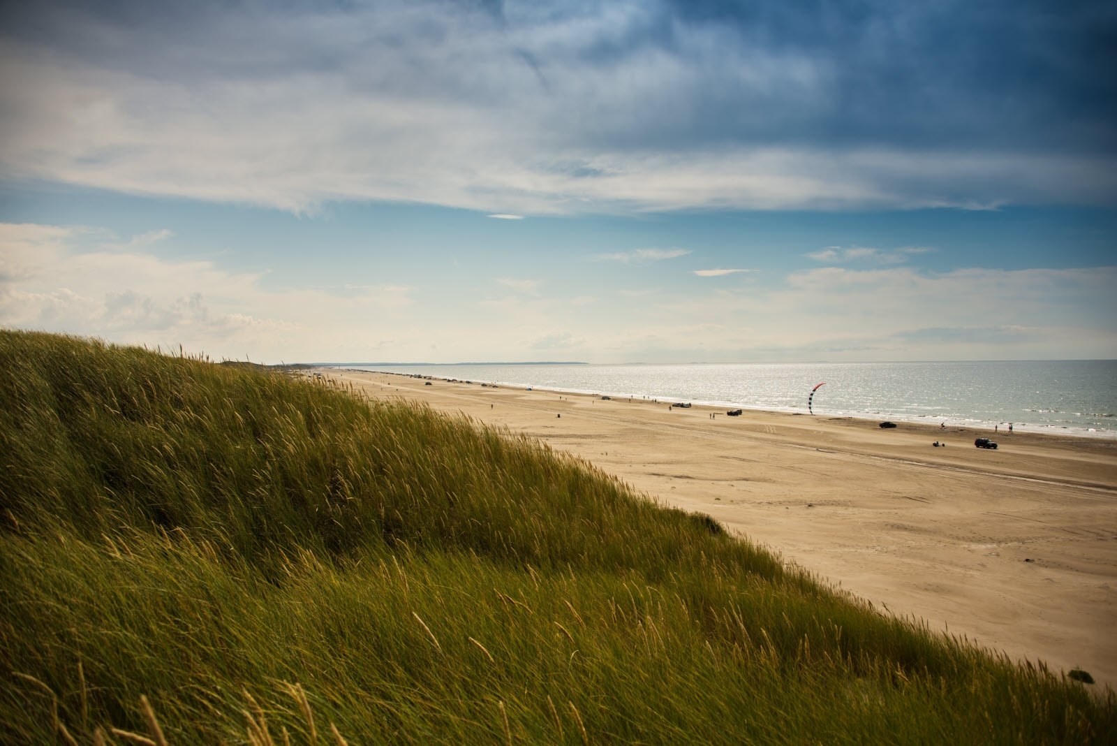 The Jammer bay beach between Saltum Strand and Blokhus in Jutland, Denmark