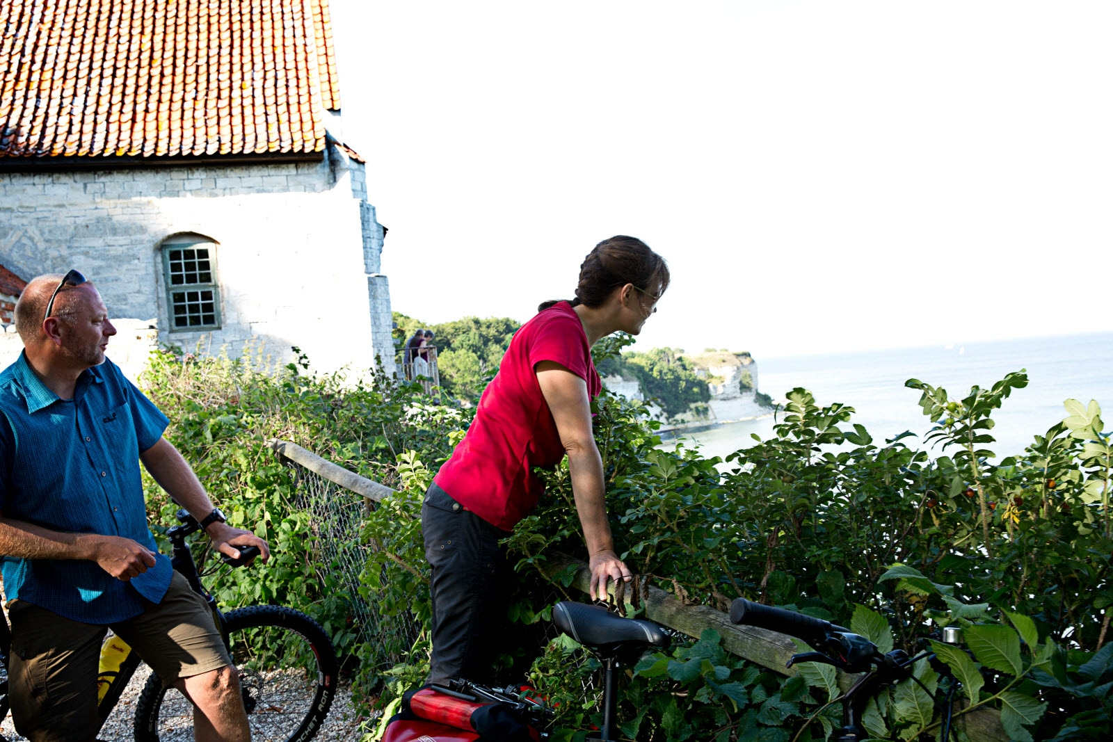 Bicycles at Stevns Klint
