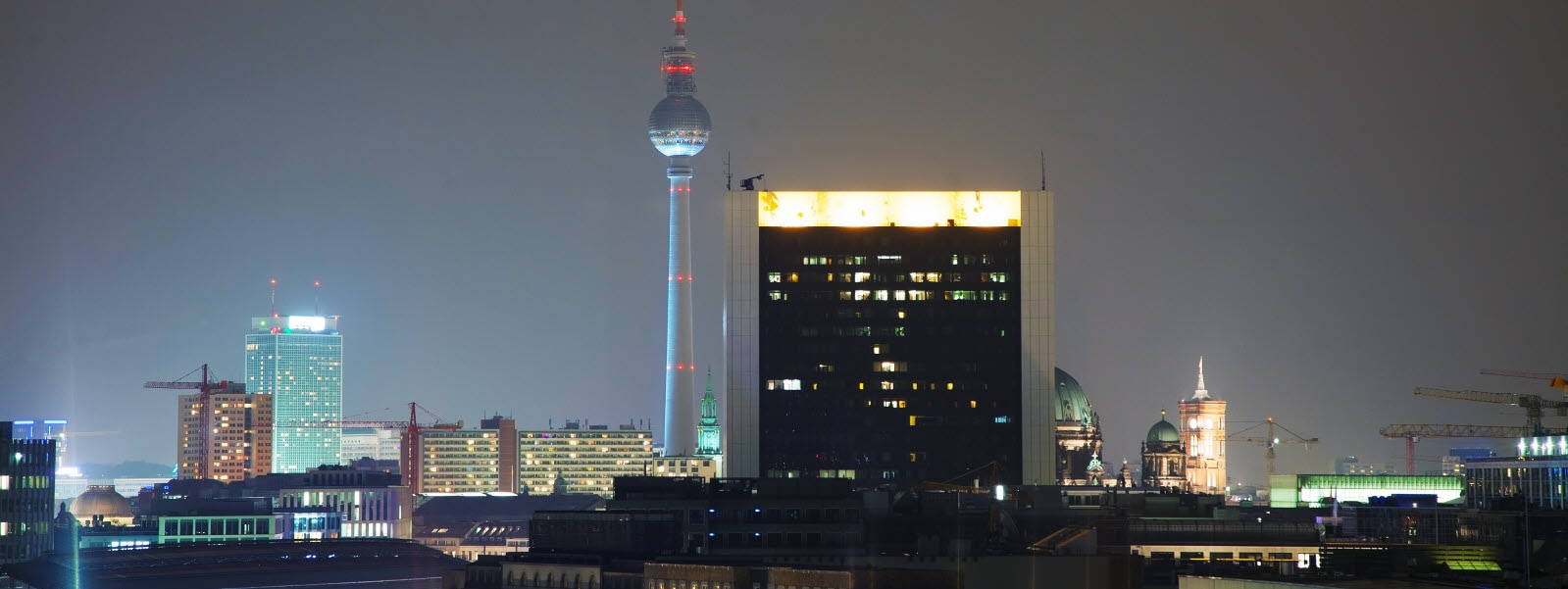 Overview of Berlin, Germany at night time. Photo: Mostphotos.com