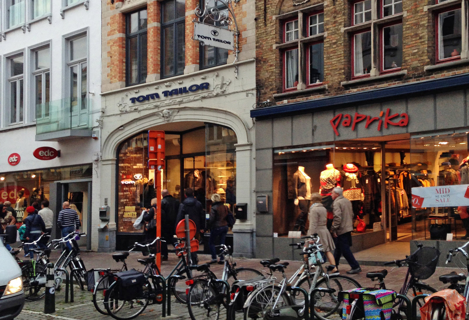 Shops with bikes  in Brussels, Belgium
