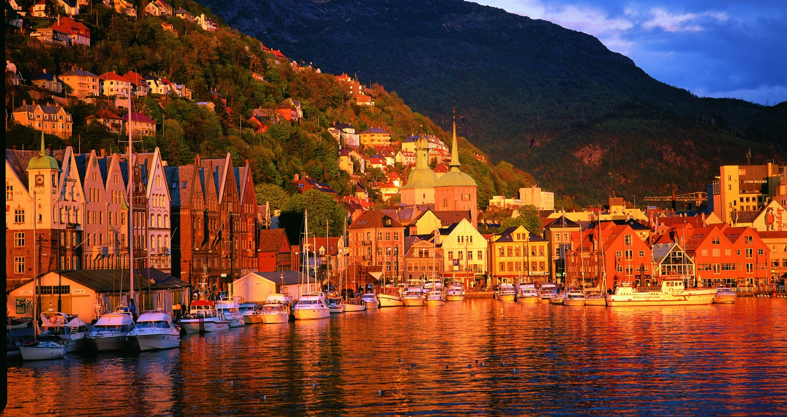 Bergen city sunset