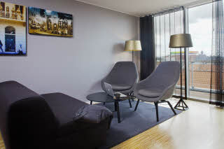Scandic Aarhus City, suite, view, living room, Aros