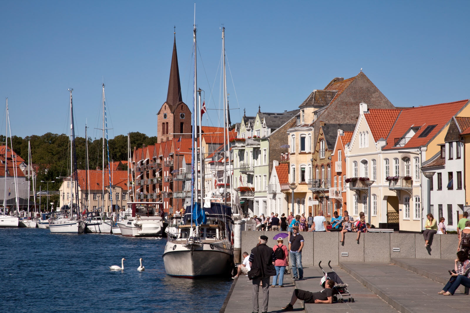 Habour life in Sonderborg