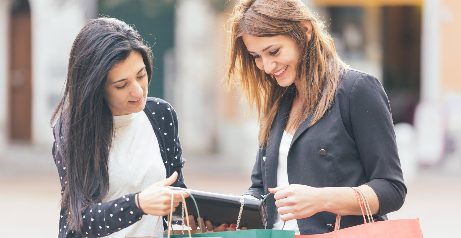 Women with Shopping Bags in the City